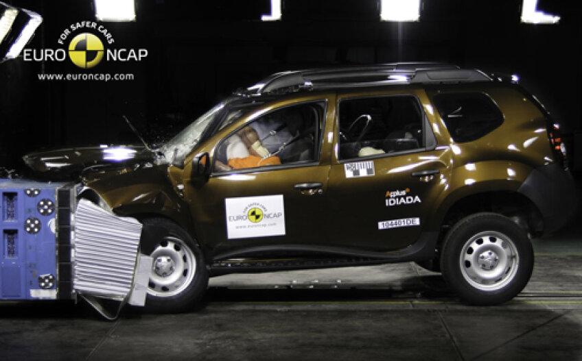 Dacia Duster nu s-a prezentat prea bine la teste Euro NCAP.