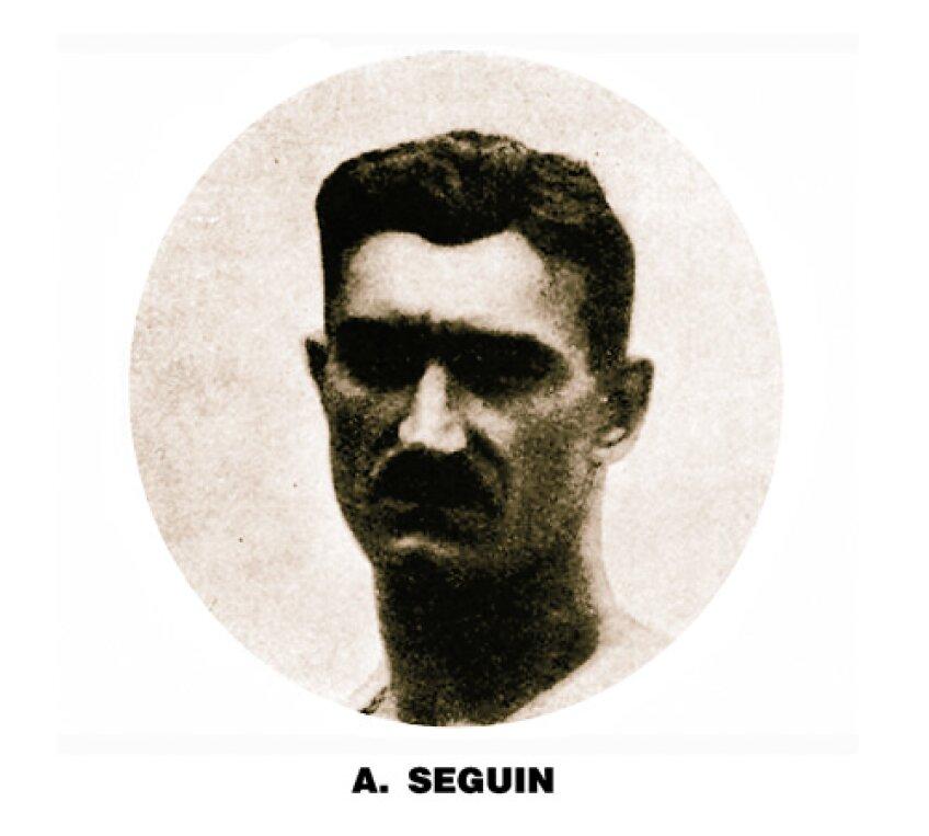 Portret al francezului Albert Seguin, unul dintre gimnaştii care a primit nota 10.00
