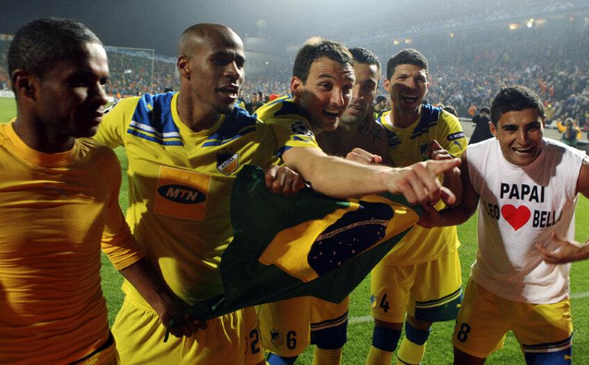 Brazilienii lui Apoel au realizat cea mai mare performanță din istoria fotbalului cipriot: prezența în premieră în