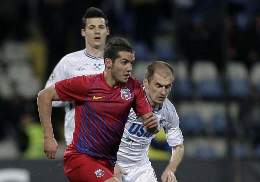 Chipciu a marcat primul său gol la Steaua în meciul cu Pandurii