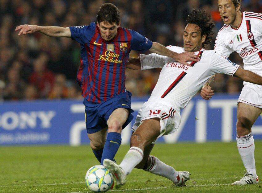 Lionel Messi a marcat două goluri în meciul cu AC Milan foto: reuters
