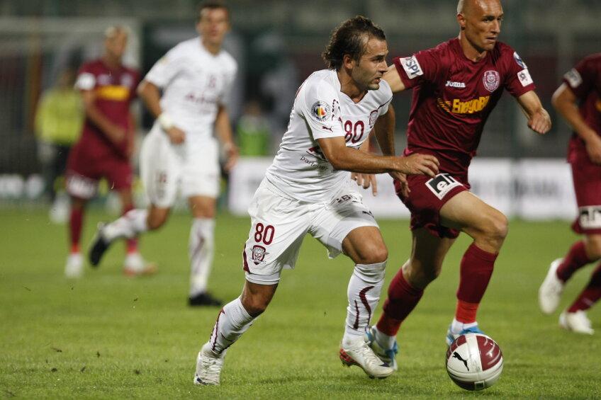 Teixeira şi Mureşan au jucat în meciul tur, încheiat la egalitate, 1-1 foto: Raed Krishan