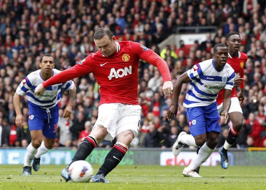 """Rooney a """"dezghețat"""" tabela dintr-un 11 metri făcut cadou de arbitri (foto: Reuters)"""