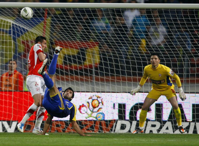 Golul de 0-1 al Hamza a însemnat începutul sfîrşitului pentru dinamovişti // Foto: Alex Nicodim