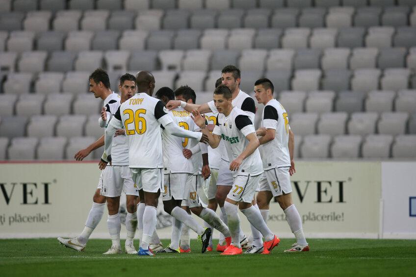 U Cluj s-a apropiat la cinci puncte de locul cinci, ocupat de FC Vaslui
