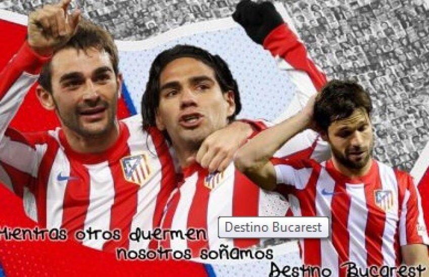 Un afiș de promovare a campaniei inițiate de Atletico
