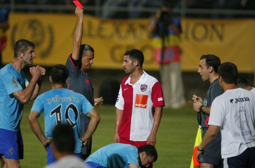 Muniz Fernandez, la meciul Unirea - Dinamo 1-0