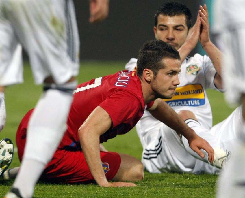 Chipciu a făcut aseară cel mai slab meci al său la Steaua.