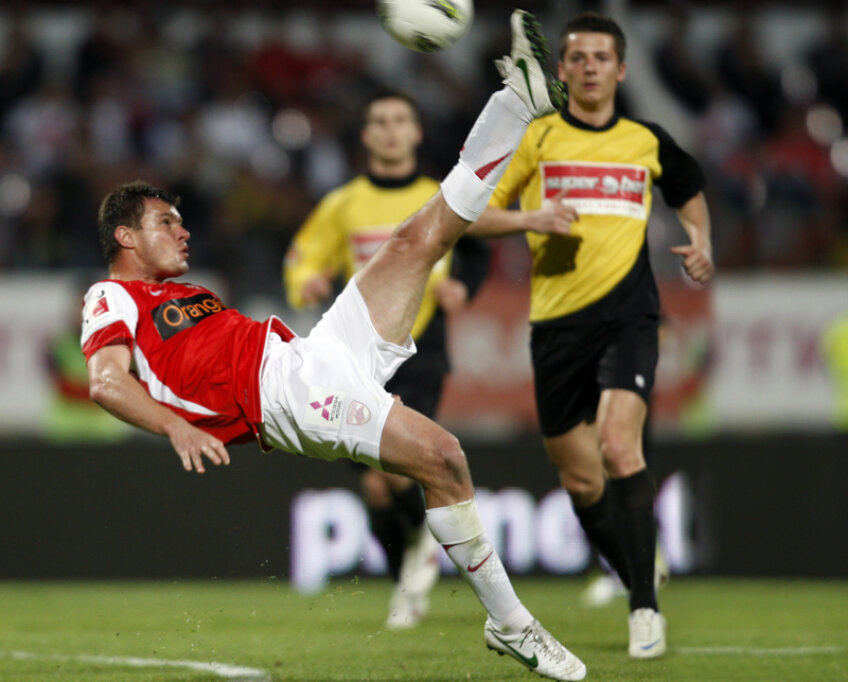 Marius Niculae nu a marcat cu Ceahlăul, dar a fost unul dintre cei mai buni jucători de pe teren.