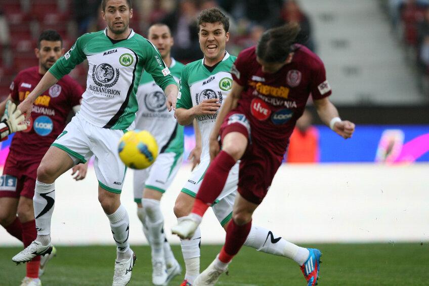 CFR a pierdut, pe teren propriu, cu Concordia Chiajna, scor 2-4