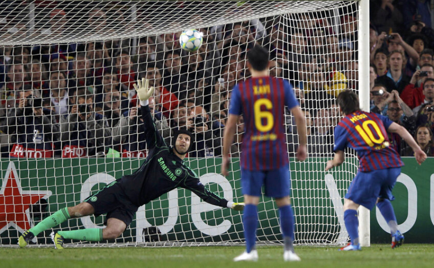 Messi nu a reuşit să marcheze împotriva lui Chelsea nici măcar din penalty.