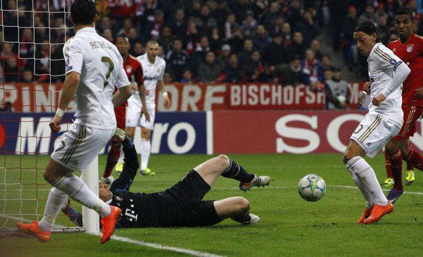 Mesut Ozil a semnat golul Realului în turul de la Munchen (foto: Reuters)