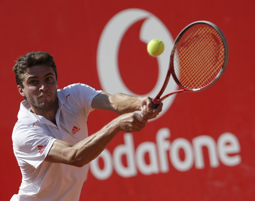 Gilles Simon s-a calificat în semifinalele de la București foto: Raed Krishan