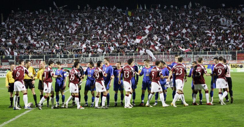 Rapid şi Steaua au jucat împreună inclusiv un sfert de Cupa UEFA