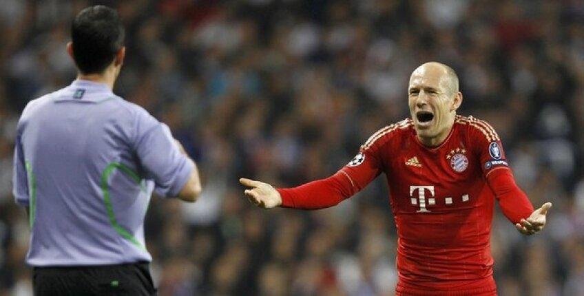 Arjen Robben s-a supărat pe oficialii lui Bayern