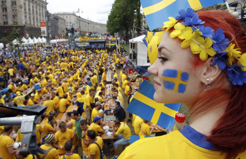 Suporterii suedezi s-au bucurat de fiecare zi petrecută în Ucraina la acest Euro