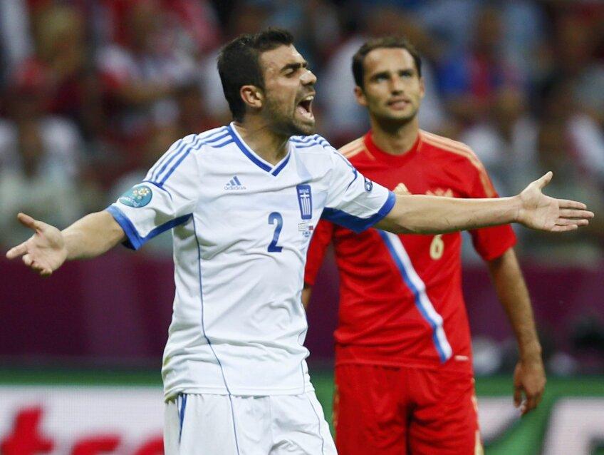Giannis Maniatis se gîndește la un nou succes al Greciei la Euro 2012, după cel din 2004 / FOTO: Reuters