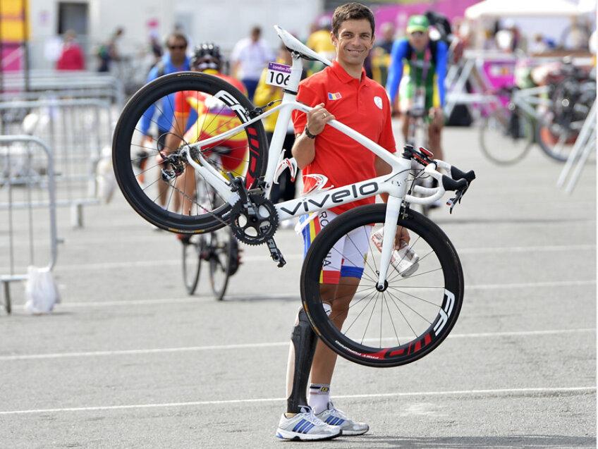 Eduard-Carol Novak, fericit la finalul cursei.