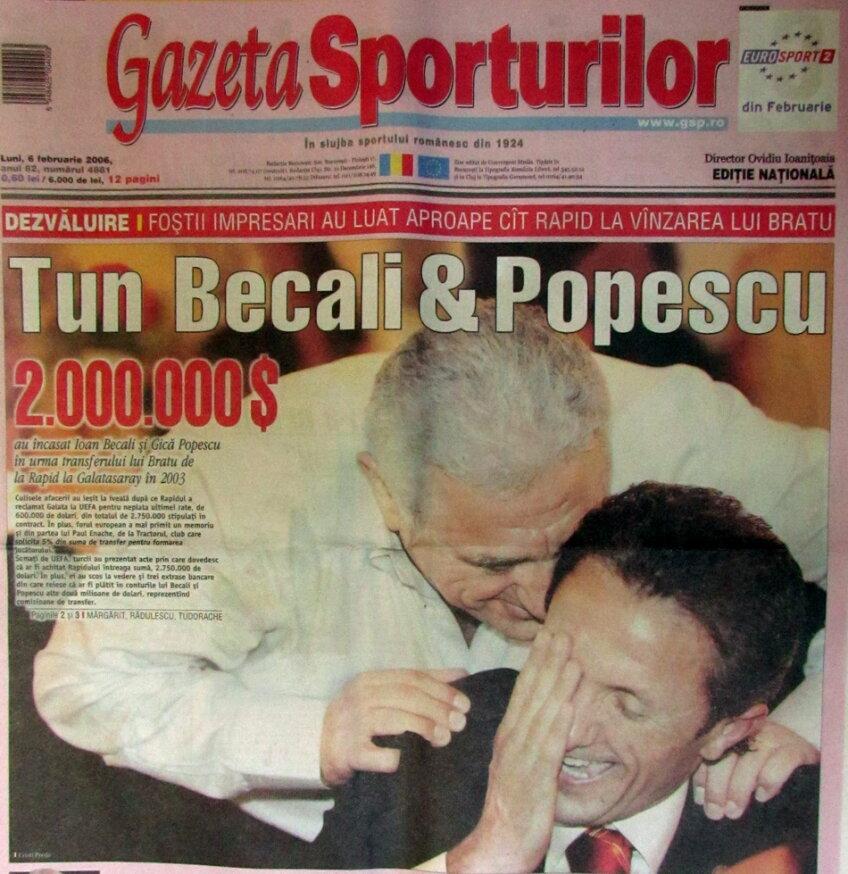 Așa au început lucrurile! Foto: coperta Gazetei din 6 februarie 2006