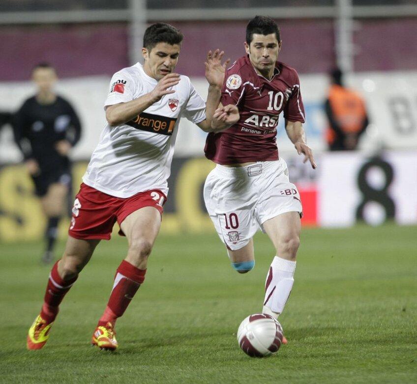 Srdjan Luchin şi Ovidiu Herea, doi dintre cei mai valoroşi jucători de la Dinamo şi Rapid