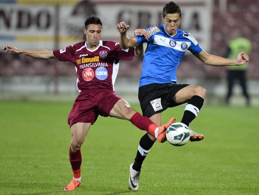Gabi Iancu a debutat în prima Ligă în iulie 2012, în meciul Viitorul - FC Brașov 2-2