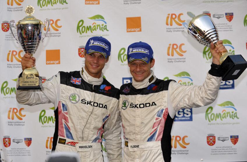 Echipajul Andreas Mikkelsen - Ola Floene a cîştigat anul trecut, aşa cum era de aşteptat, Raliul Sibiului