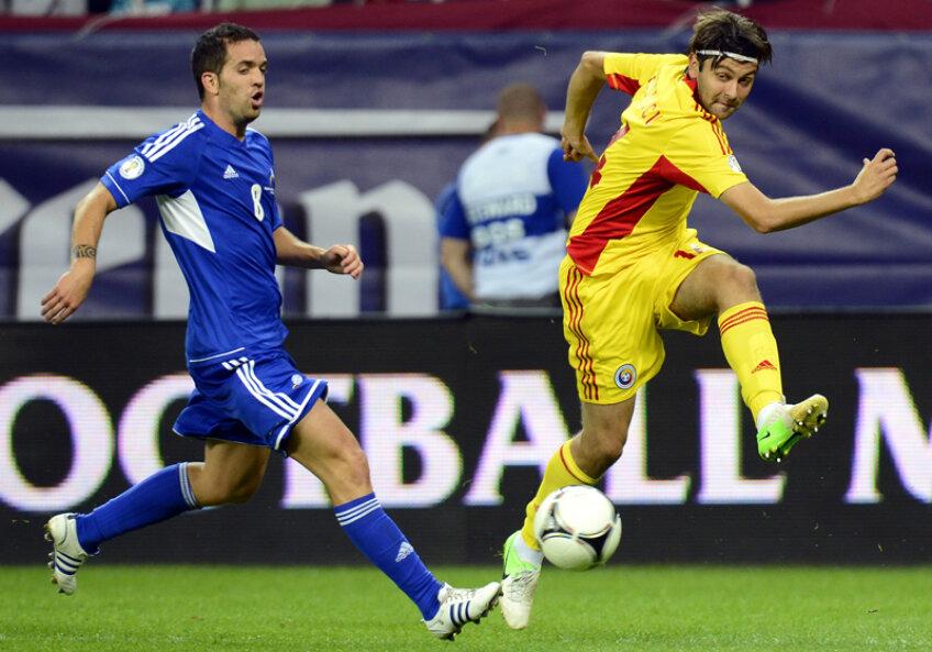 Rusescu l-a schimbat pe Marica în minutul 65 al meciului cu Andorra