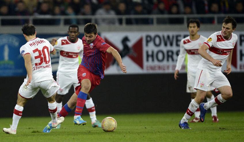 Steliştii au obţinut în acest sezon cei mai mulţi bani din bilete la meciul cu Stuttgart