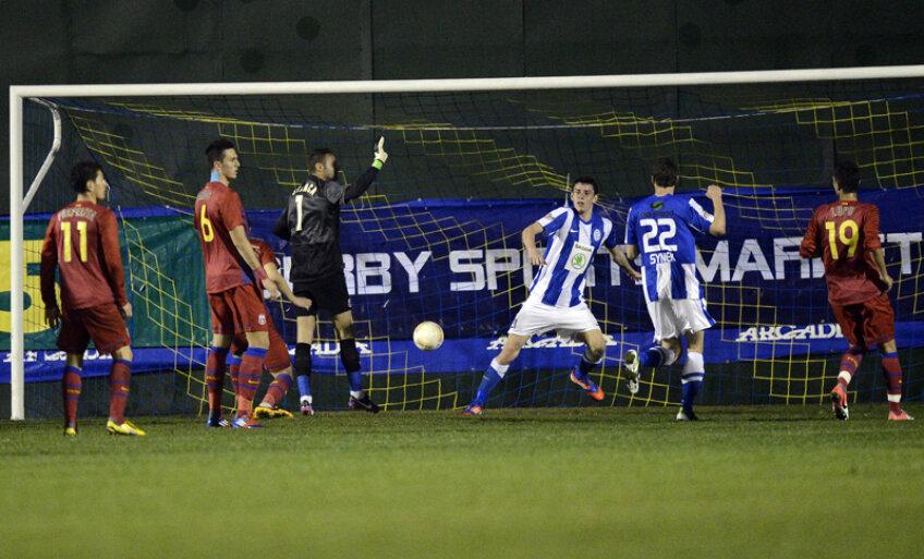 Unicul gol al meciului a fost marcat în minutul 90.