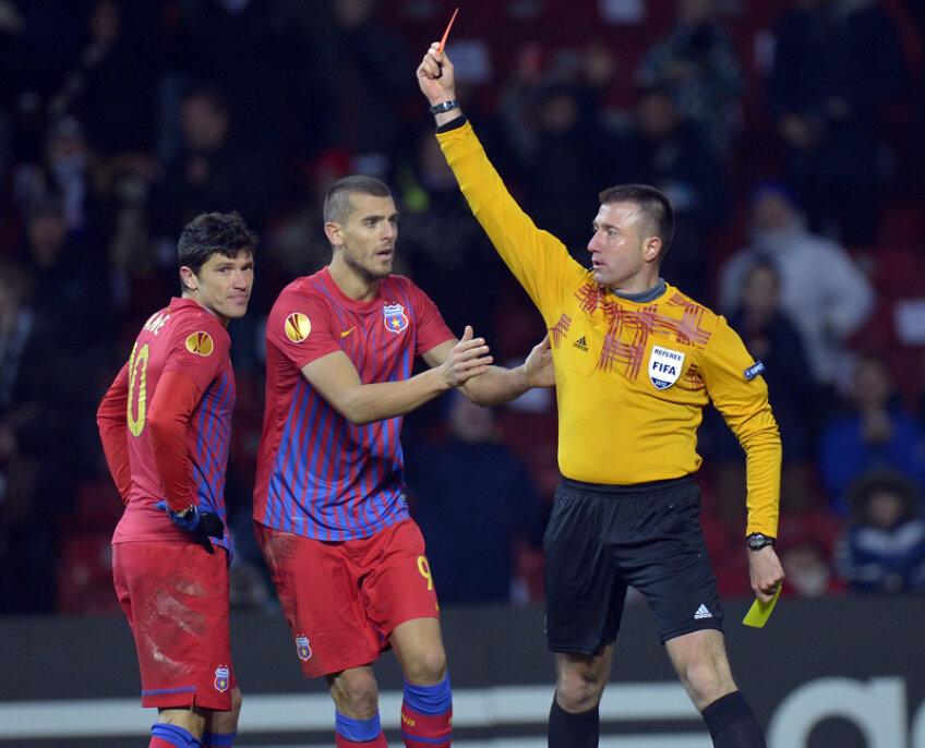 Tănase a fost unul dintre cei şapte eliminaţi ai Stelei din ultimele trei sezoane în Europa League.