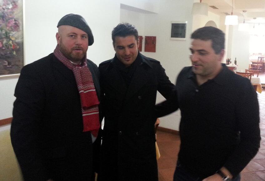 Marţian, Mutu şi Catanzariti s-au întîlnit în Arad // Foto: Călin Mnerie