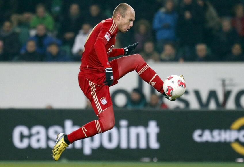 Golul cu Wolfsburg, de sîmbătă, a fost primul pentru Robben în această ediție de campionat! // Foto: Reuters