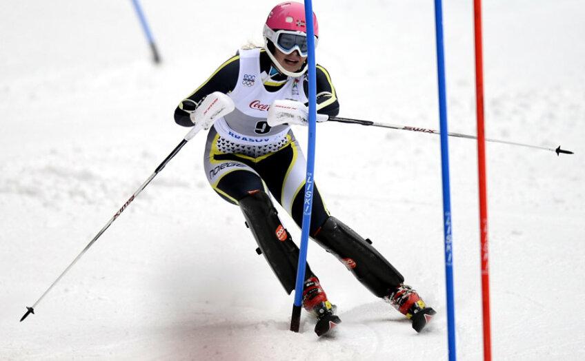 Nora Grieg Christensen cîştigătoarea probei de slalom feminin.