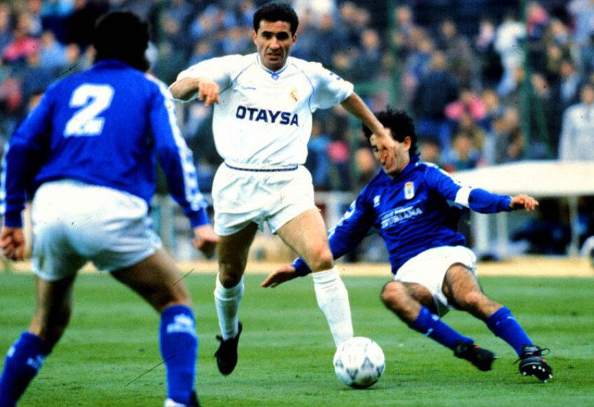 Doi ani a jucat Hagi la Real Madrid (1990-1992), fiind primul său club în străinătate