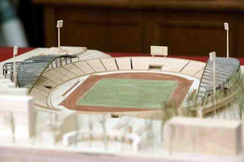 Dinamoviștii n-au dus niciodată lipsă de machete pentru noua arenă visată, însă mereu a intervenit ceva și stadionul din Ștefan cel Mare s-a degradat continuu