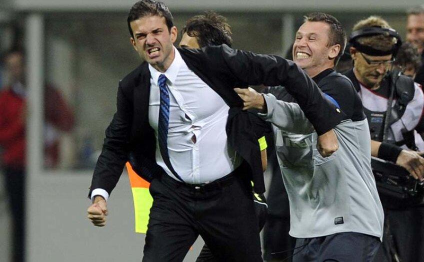 Primul diferend între Cassano și Stramaccioni s-a consumat pe 12 decembrie, la meciul cu Pescara, în care atacantul s-a înfuriat că a fost schimbat // Foto: Guliver/GettyImages