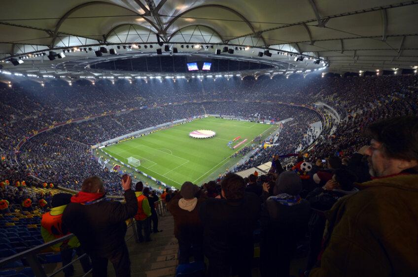 Arena Națională a arătat superb joi seară.