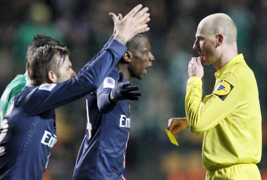 Beckham nu l-a menajat nici pe arbitrul Gautier