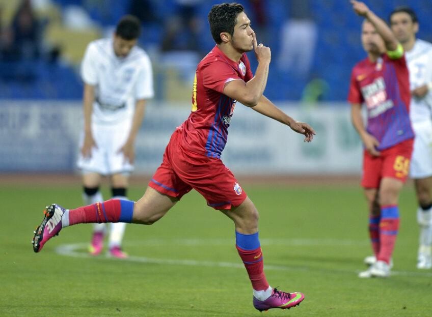 Gabi Iancu, 19 ani, a marcat ieri al doilea său gol în tricoul Stelei