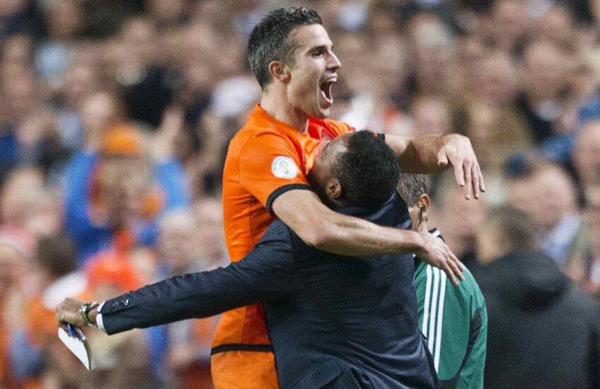 Van Persie, hat-trick cu Ungaria, a devenit golgeterul all-time al Olandei // Foto: Reuters