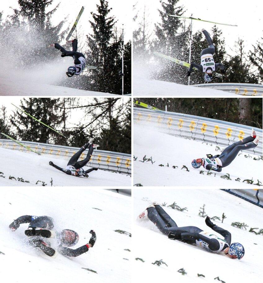Aşa a căzut Thomas Morgenstern de pe trambulina de 200 m înălţime de la Kulm
