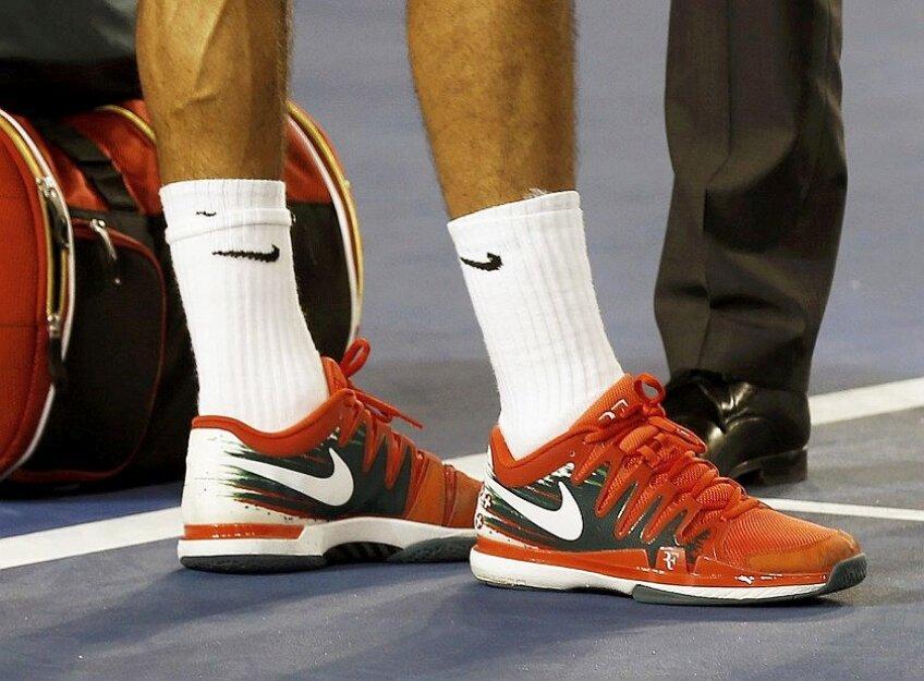 Șosetele lui Roger Federer, foto: reuters