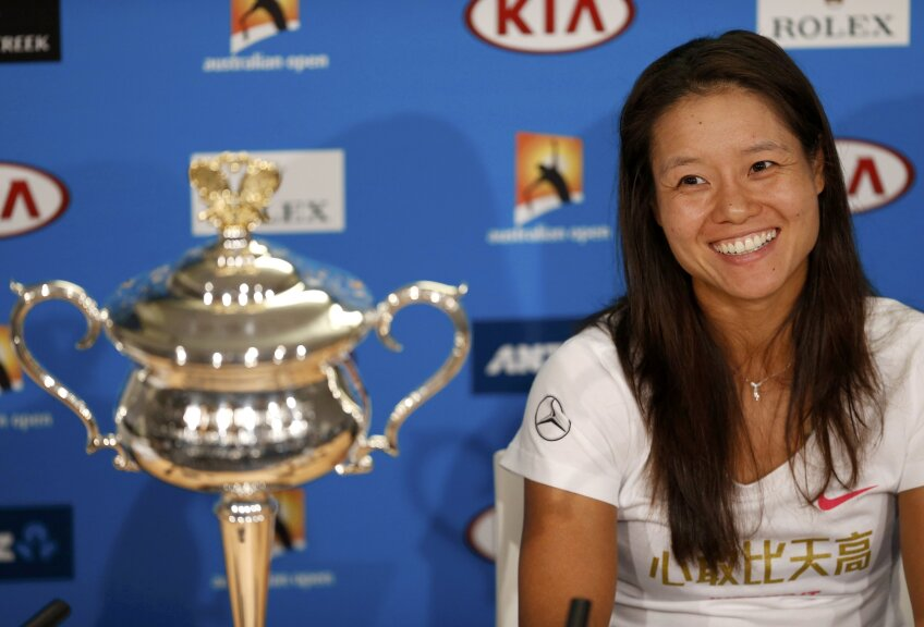 Na Li, cu trofeul de la Australian Open, foto: reuters