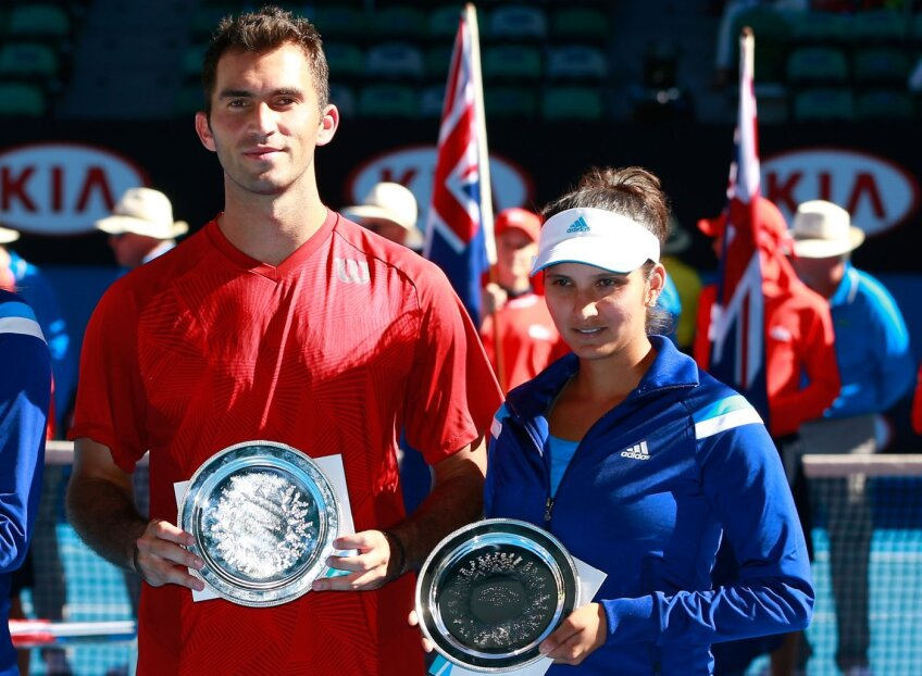 Horia și Sania cu trofeele lor // Foto:  Guliver/GettyImages