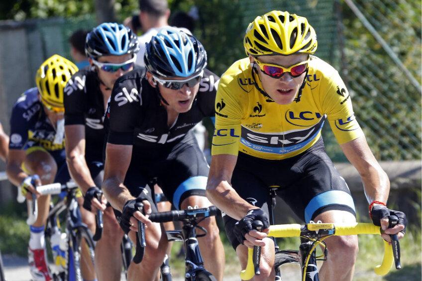 Chris Froome în galben, foto: reuters