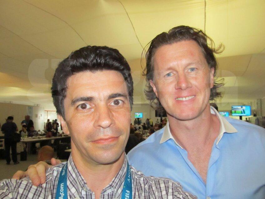 Steve McManaman alături de reporterul GSP