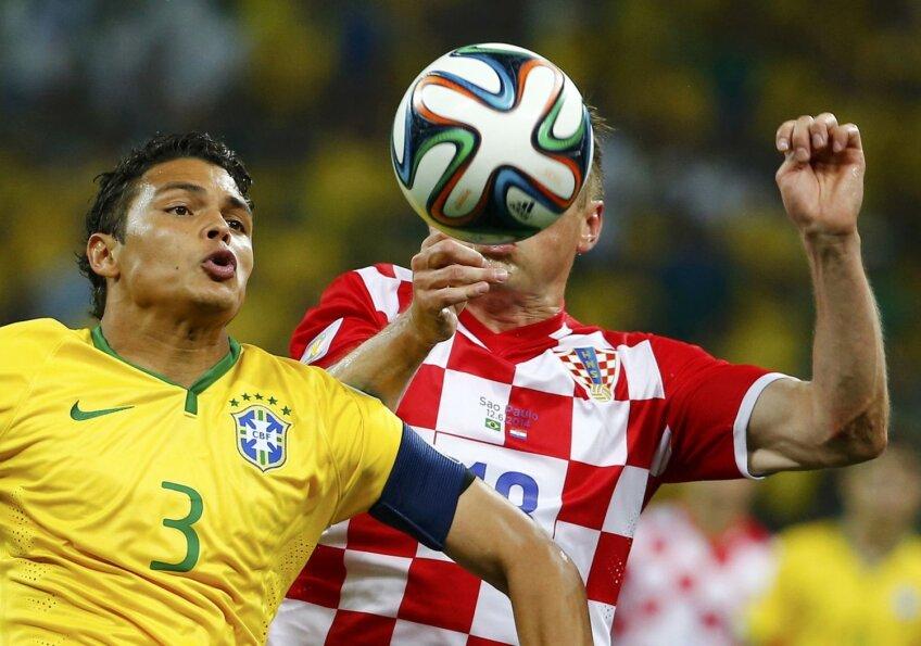 Thiago Silva nu i-a lăsat multe șanse lui Olici și croaților, care au punctat doar cu autogolul lui Marcelo // Foto: Reuters