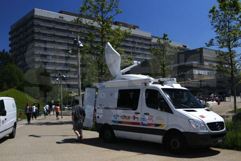 Imagine cu spitalul din Lausanne, unde a fost mutat Schumacher