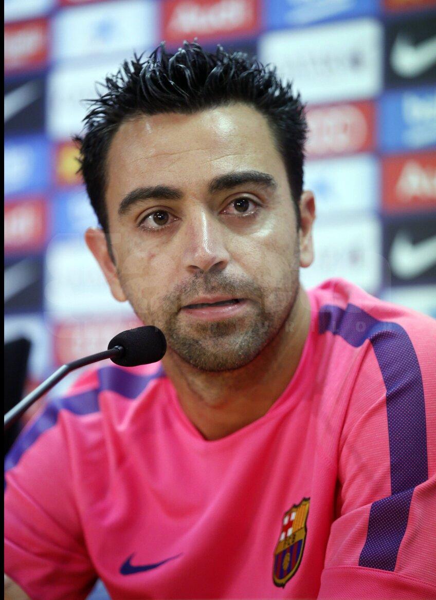 Xavi Hernandez la conferință, foto: Reuters