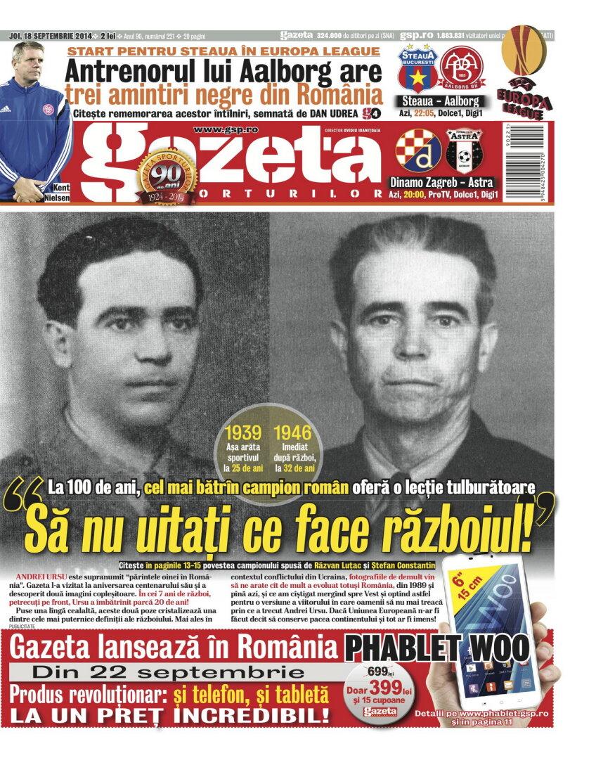 Coperta de azi a Gazetei